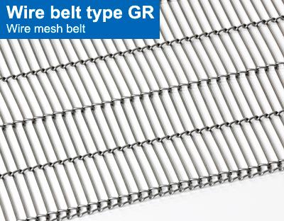 Wire belts, Tightly wound belts, Open belts, Spun belts, Wire belts ...